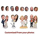 Custom Bobblehead Wedding Couple Unique Bobbleheads, Personalized Wedding Gift for Groom & Bride, Wedding Cake Topper - Customized Bobblehead Figures From Head To Toe Based On Your Photos