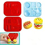 TECH-P Creative Life Hamburger 3D Play Dough Clay Modeling Tools for Kids Creativity