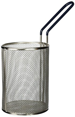 Tablecraft 985 Round Pasta Basket, 5-1/4 by 7-Inch, Stainless Steel