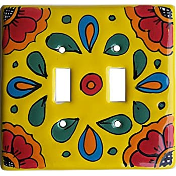 Amazon.com: Rainbow Talavera Ceramic Double Switch Plate: Home & Kitchen