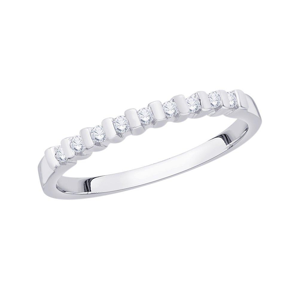 G-H,I2-I3 Size-9.5 1//8 cttw, Diamond Wedding Band in 14K White Gold