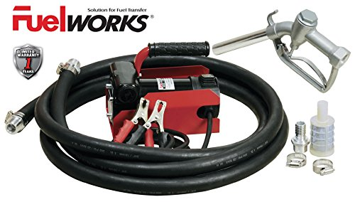 FUELWORKS Electric Diesel Fuel Transfer Pump Kit, 12 Volts & 10 GPM; NOT For Gasoline - Diesel Transfer Pump