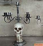 Halloween Metal Skull Candle Holder for Horror Halloween Decoration