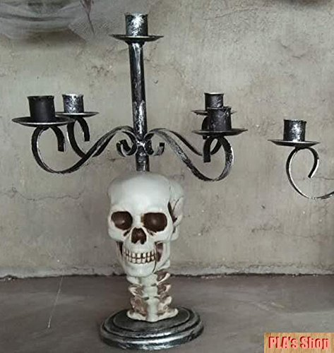 Decorated Cupcakes Ideas Halloween (Halloween Metal Skull Candle Holder for Horror Halloween)