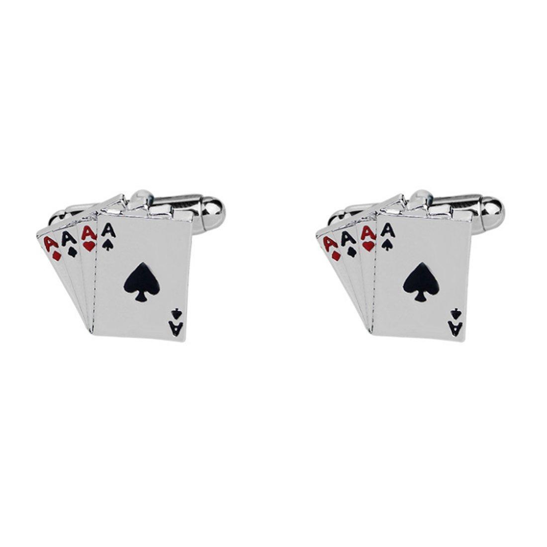 Amazon.com: Gambling Gemelos, Gemelos de plata para hombre ...