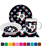 Texas Polka Dots Dinner Set - 4 Pc (Personalized)
