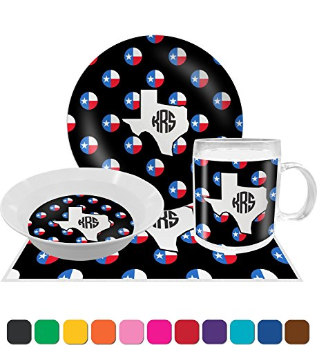 Texas Polka Dots Dinner Set - 4 Pc (Personalized) by RNK Shops