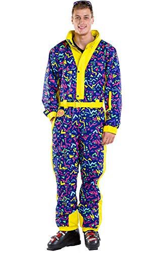 - Tipsy Elves Men's Zero Chill High Performance Ski Suit - Neon Loud Ski Suit Male: XL