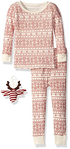 burts-bees-baby-infant-unisex-organic-2-piece-pajama-set-with-ornamentivory-fair-isle6-years