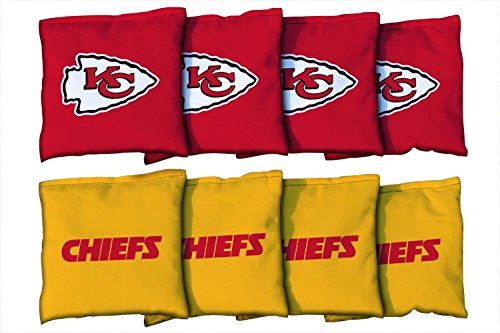 Victory Tailgate 8 Kansas City Chiefs NFL Football Regulation Corn Filled Cornhole Bags