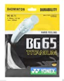 Yonex Badminton String BG65Ti - 10m - Pack of 1 - White