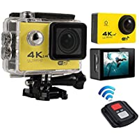 niceEshop(TM) 4K HD Wifi Action Camera 2.0 Inch 170 Degree Wide Angle Lens Action Camera WIFI 4k Waterproof Sports Action Camera, Yellow