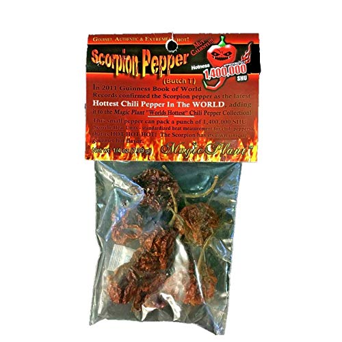 Dried Trinidad Moruga Scorpion Pepper Pods, 0.25 Ounce (0.25 Ounce Pods)