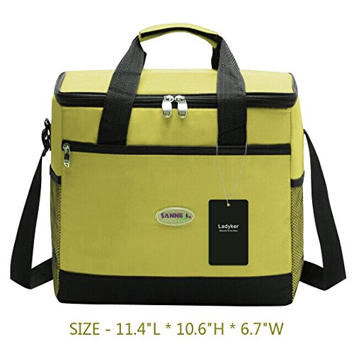 Ladyker Large Insulated Cooler Bag,Picnic Bag,Lunch Bag,Lunch Box,13L