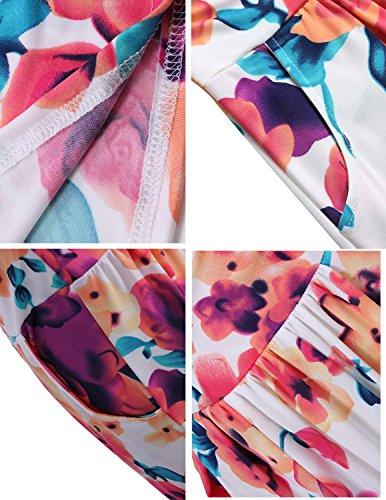Femmes Bohme Couleur Maxi 1 Plage Imprim Robes Longue sans t Floral Robe carinacoco de Bustier Bretelle Robe FSqdwF