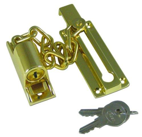 Asec Locking Door Chain Brass