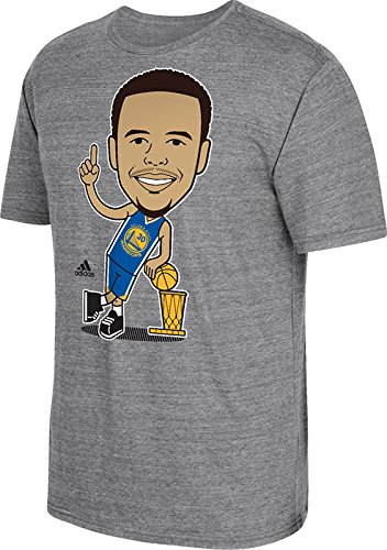 89284da8 adidas Golden State Warriors 2015 NBA Finals Champs Stephen Curry Caricature  Trophy T-Shirt X