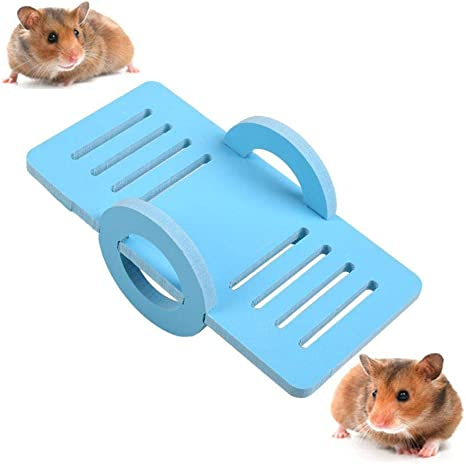 Foonee Hamster Wippspielzeug Fur Mini Haustiere Spielzeug Fur Zwerghamster Mause Rennmause Blau Amazon De Kuche Haushalt