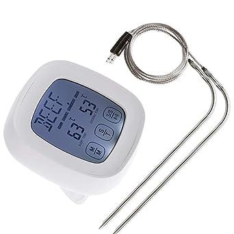 Las sondas de doble pantalla táctil Horno cocina del termómetro de ...