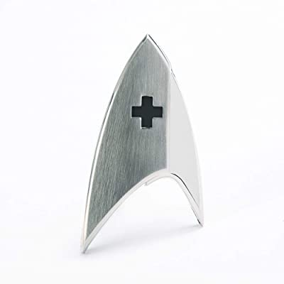 Star Trek Discovery Medical Badge Silver: Clothing