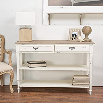 Amazon Com Oxford 47 Inch White Three Drawer And Open