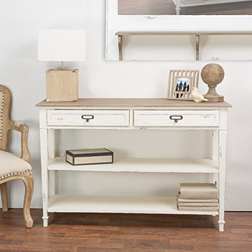 Traditional Entryway (Baxton Studio Dauphine Traditional French Accent Console Table, White)