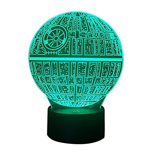 Night Light 3D Optical Illusion Lamp 7 Colors Change with Remote, Birthday for Kids Baby Amazing Light Touch Table Desk LED Home Decoration (Star Wars)]()