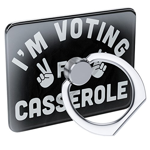 Pedestal Casserole - Cell Phone Ring Holder I'm Voting For Casserole Funny Saying Collapsible Grip & Stand Neonblond