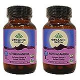 (2 Pack) - Organic India - Org Ashwagandha | 60's | 2 PACK BUNDLE