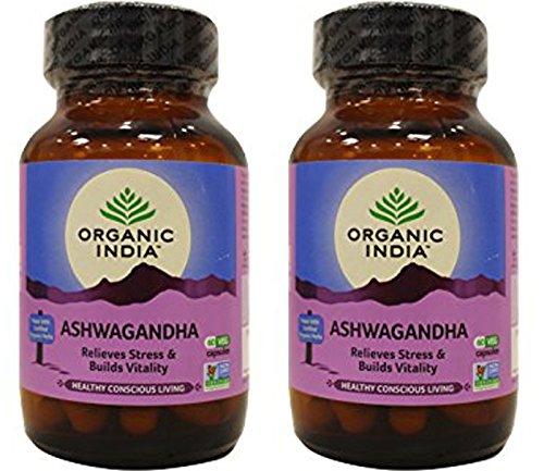 (2 Pack) - Organic India - Org Ashwagandha   60's   2 PACK BUNDLE
