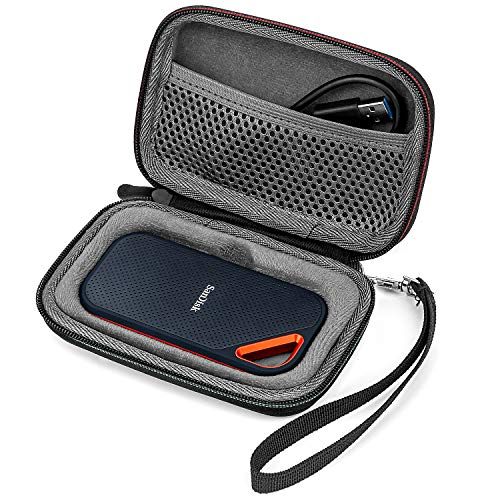 Fromsky Hard Case for SanDisk Extreme Pro Portable External SSD 500GB 1TB 2TB, Travel Case Protective Cover Storage Bag (Black)