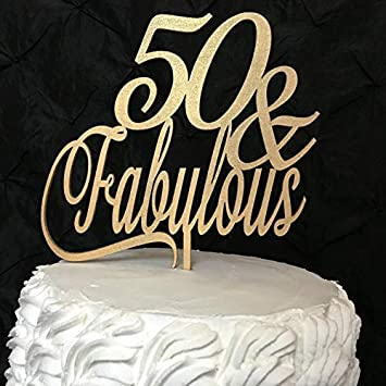 Prime 50 And Fabulous Cake Topper 50Th Birthday Cake Topper Centerpieces Personalised Birthday Cards Sponlily Jamesorg