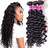 RECOOL Loose Deep Wave Bundles Cheap 8a Virgin Brazilian Hair Wet and Wavy Human Hair Extensions Deals(18 20 22 24)