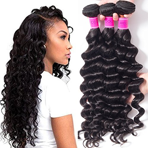 RECOOL Loose Deep Wave Bundles Cheap 8a Virgin Brazilian Hair Wet and Wavy Human Hair Extensions Deals(18 20 22 24) by RECOOL