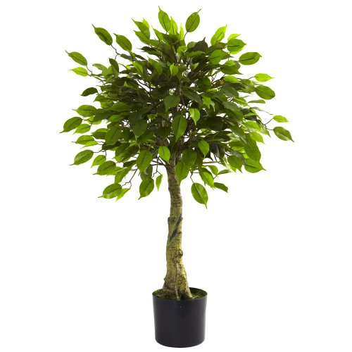 Nearly Natural 5383 Ficus UV Resistant Tree, 3-Feet, Green