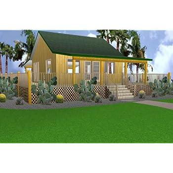16x32 Cabin w/Loft Plans Package, Blueprints, Material List