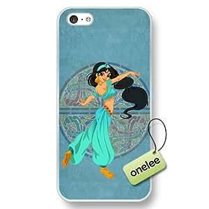 Disney Cartoon Movie Aladdin & Jasmine Hard Plastic Phone Case & Cover for iPhone 5c - Transparent