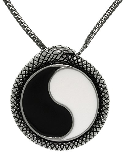 Jewelry Trends Yin Yang Stainless Steel Pendant Necklace 24