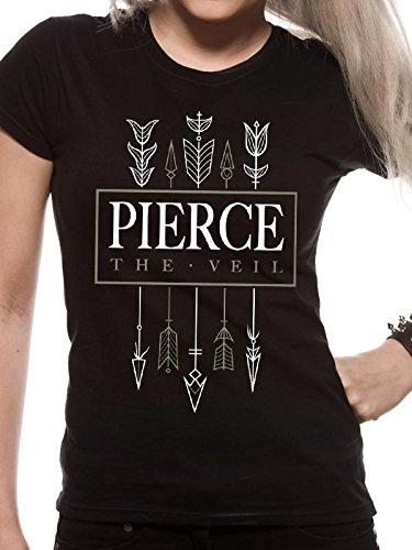 I-D-C Pierce the Veil-Arrows, Camisetas para Mujer, Large negro