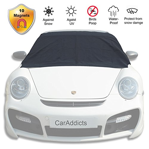 CARADDICTS Windshield Cover Ice Snow Magnetic Shade Frost Dust Rain Resistant–No Ice Scraping Waterproof Windproof Durable Material Outdoor Cover Fit All Cars 10 Magnets Standard Size 58x84(6S)