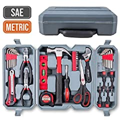 """Stay Covered for DIY!Be Prepared for Home Maintenance & DIY with this Homeowner's Tool Set♦ Claw Hammer (8oz/225g)Banging and pulling nails with fiberglass handle for reduced strain while using♦ Long Nose Pliers/ Needle Nose Pliers (6""""/15..."""