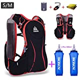 AONIJIE Outdoor Sport Bag Hiking Marathon Camping Water Hydration Backpack Lightweight Running Vest Pack 2 500ml Soft Water Bottle one 1.5L Water Bladder