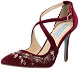 Blue by Betsey Johnson Women's SB-Skye D'Orsay Pump, Burgundy Velvet, 7 M US
