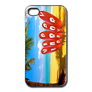 Fashionable Customized Happy Labor Day For Iphone 4/4S Cases