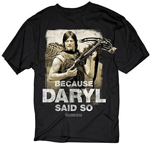 The Walking Dead- Because Daryl Said So T-Shirt Size - Mens 09 Shorts