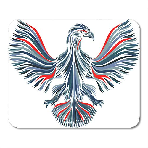 Emvency Mouse Pads Beautiful White Animal Color Eagle Arms Bird Cartoon Drawing Mouse Pad for notebooks, Desktop Computers mats 9.5