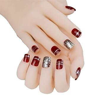 Amazon.com: jindin 24 Hoja corta uñas postizas para mujeres ...