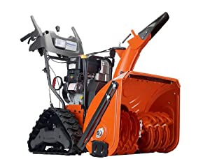 B0053WVMWA_Husqvarna 1827EXLT 27-Inch 414cc SnowKing Gas Powered Two Stage Snow Thrower With Electric Start, Power Steering & Trac Hydro Drive