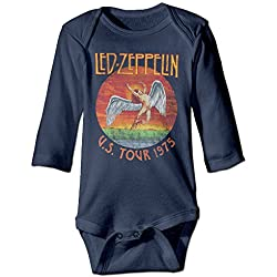 U.s. Tour 1975 Rock Led Zeppelin Baby Onesie Bodysuit Toddler Clothes Longsleeve