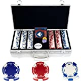 Trademark Poker 300 Hold'Em Poker Chips Set with Aluminum Case, 11.5gm